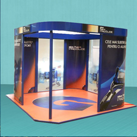Gillette tradeshow booth