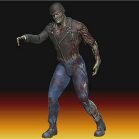3D Sculpted Zombie