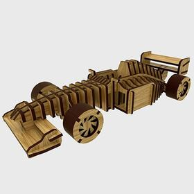 Wooden race car model