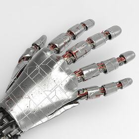 Animated robotic hand