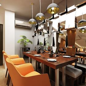 3ds Max dining area modeling