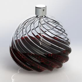 3D perfume bottle rendering