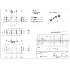 Badminton court steel shop drawings