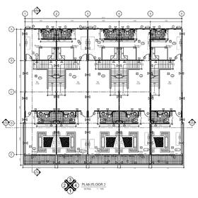 Multi-family home 2D CAD drafting