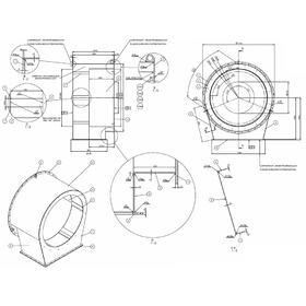 Industrial fan assembly drawing
