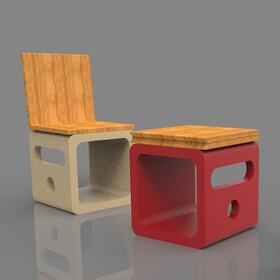 Chair-table AutoCAD drafting and design