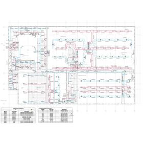 Power, lighting, and HVAC systems drawing layout
