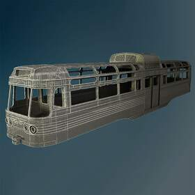 Various British trams body models