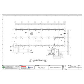 Control house foundation layout PDF to DWG