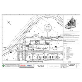 Site development plan PDF to DWG