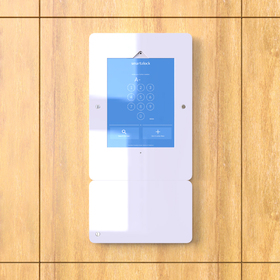 Pad and RFID kiosks for smart locker system