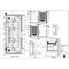 Architectural interior detailing drawing