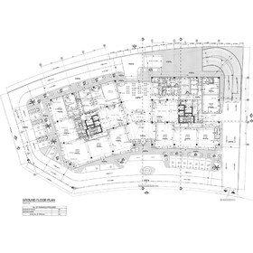 Commercial and office building ground floor plan
