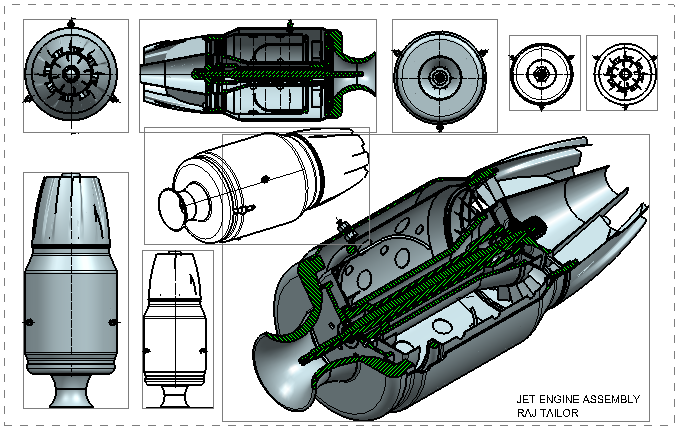 Jet Engine Assembly Design